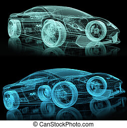 sport car - reticulated basket of sport car