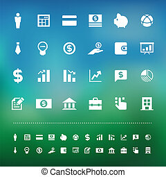 Retina business and finance finance icon set