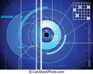 retina, fundo, varredura
