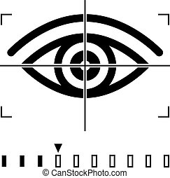 Retina Scan, Eye Scan Icon