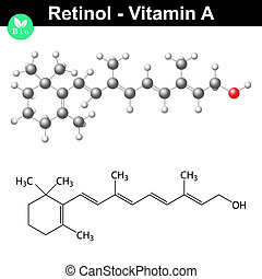 Retinol structural chemical formula - Retinol structure,...