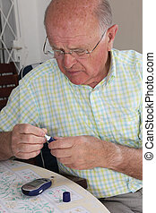 Retired diabetic testing glucose level - Retired diabetic ...