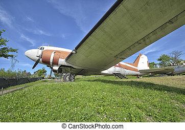Retired Douglas DC-3 Dakota - View of a retired Douglas DC-3...