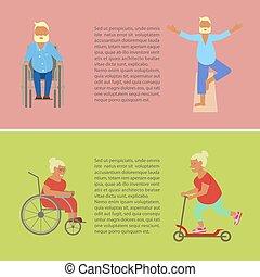 Retired elderly seniors