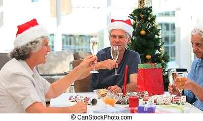 Retired friends on Christmas day
