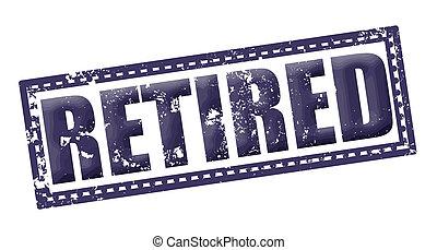 retired grunge stamp whit on vector illustration