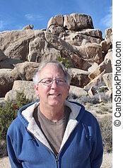 Retired Man on California Trip