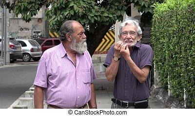 Retired Old Men Arguing