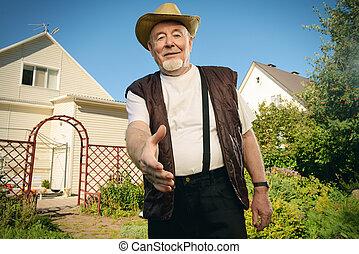 retired senior man