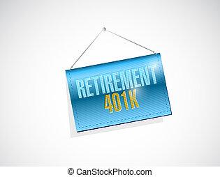 retirement 401k banner sign concept