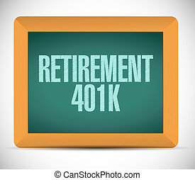 retirement 401k board sign concept
