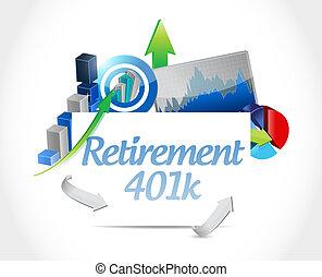 retirement 401k business sign concept