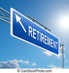Retirement concept.