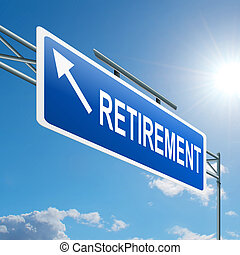 Retirement concept. - Illustration depicting a highway...