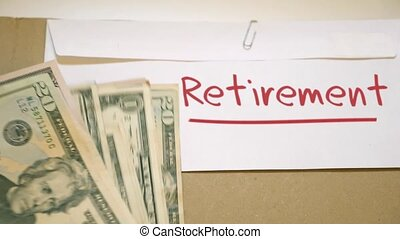 Retirement costs concept - Saving cash for retirement...