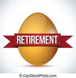 retirement egg illustration design