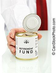 Retirement fund concept