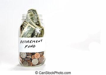 Retirement Fund Money Jar