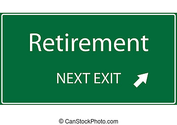 Retirement Illustration - Illustration of a green Retirement...