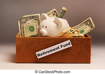 Retirement money in a box.