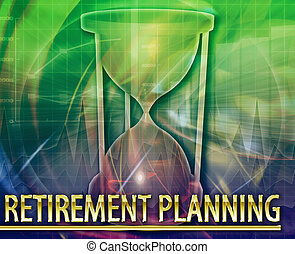 Abstract background digital collage concept illustration retirement planning