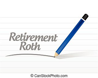retirement roth message sign illustration design