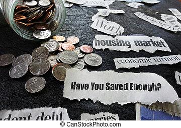 Retirement savings concept