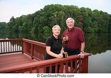 Retirement - Senior couple enjoying the outdoors