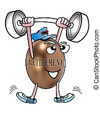 Retirement Weighlifter - Cartoon retiremretirement...
