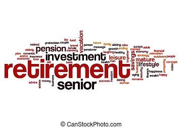 Retirement word cloud