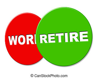 retirer, travail, signe, finition, annonce, spectacles
