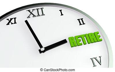 retiro, tiempo