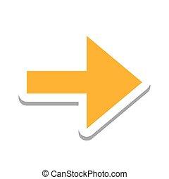 retning, symbol, pil