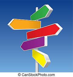 retnings, (vector), tegn