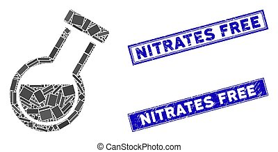 Retort Mosaic and Distress Rectangle Nitrates Free Watermarks
