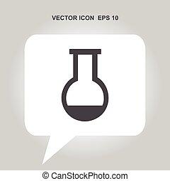 retorten-, ikone, vektor