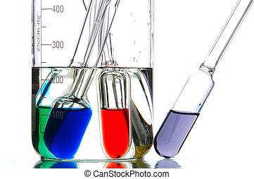 retorts, hos, farvet, væsker