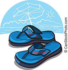 retournez opération virgule flottante, sandales