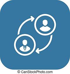 retraining, icon., affari, concept., appartamento, design.