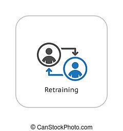 Retraining Icon. Business Concept. Flat Design.