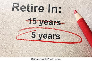 retraite anticipée, concept