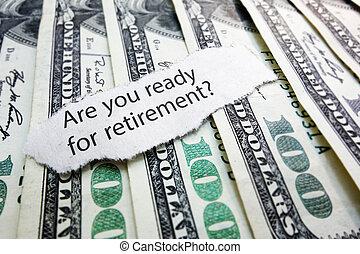retraite, argent