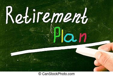 retraite, concept, plan