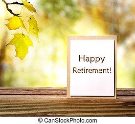 retraite, heureux
