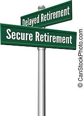 retraite, ou, planification, assurer, retardé