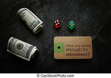 retraite, planification, économie