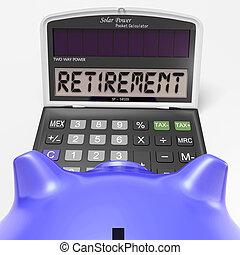 retraite, retiré, calculatrice, travail, personnes agées, spectacles