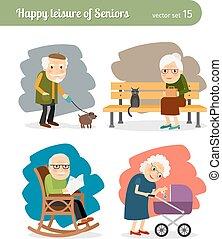 retraite, vieux gens