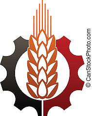 retratar, agricultura, industria, icono