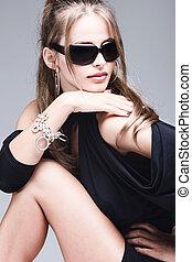 retrato, óculos de sol